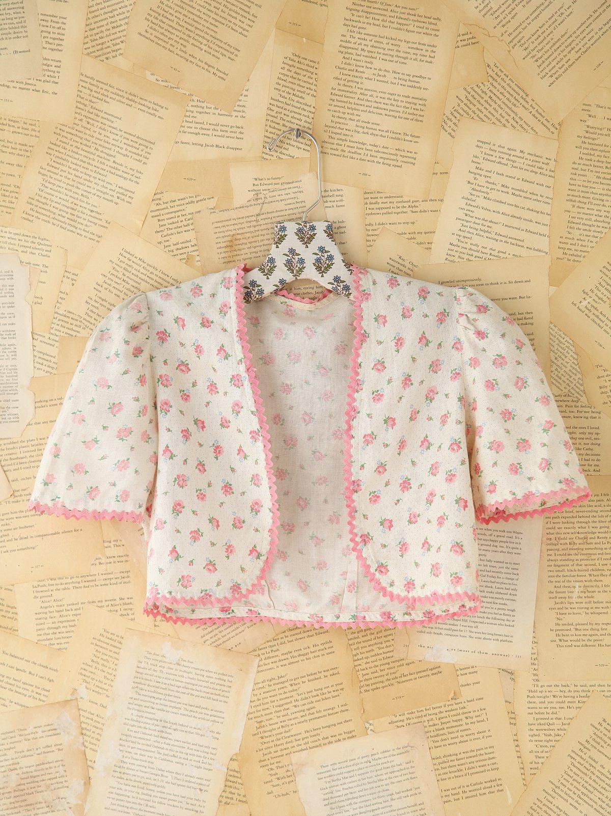Vintage Floral Bolero Jacket