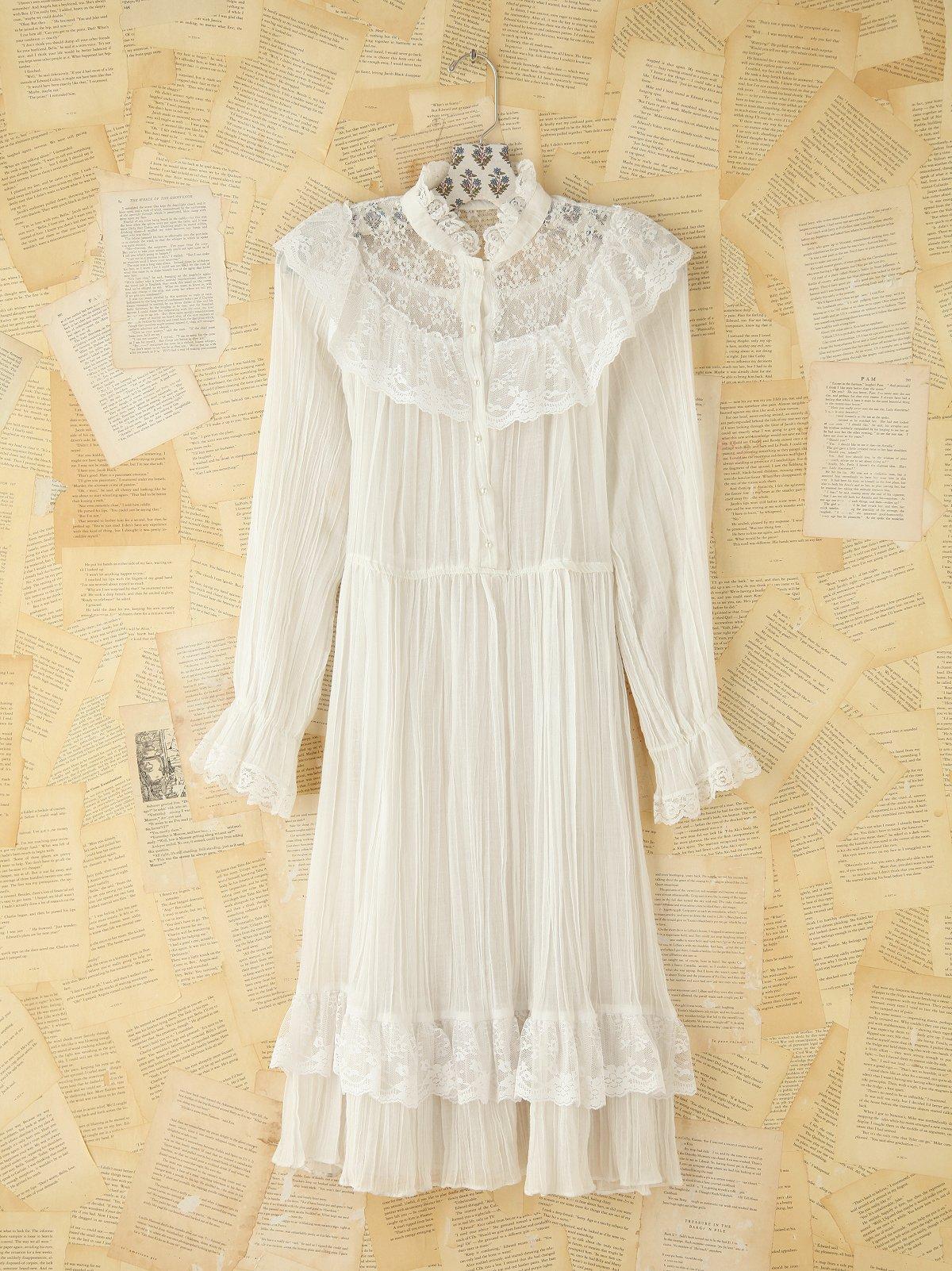 Vintage Lace Trimmed Dress