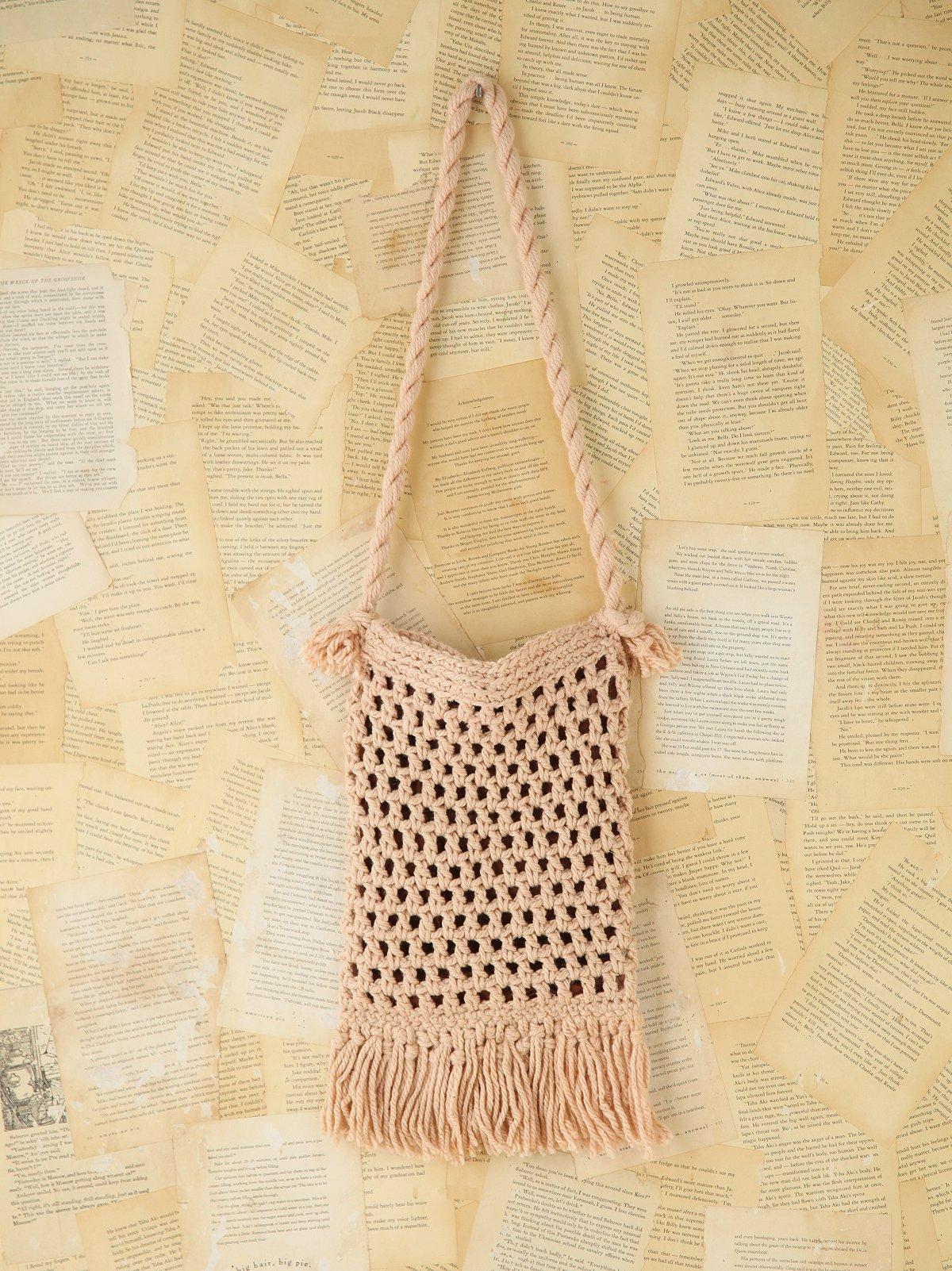 Vintage Macrame Rope Bag