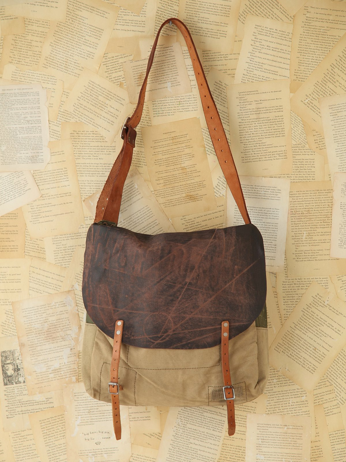 Vintage Distressed Messenger Bag