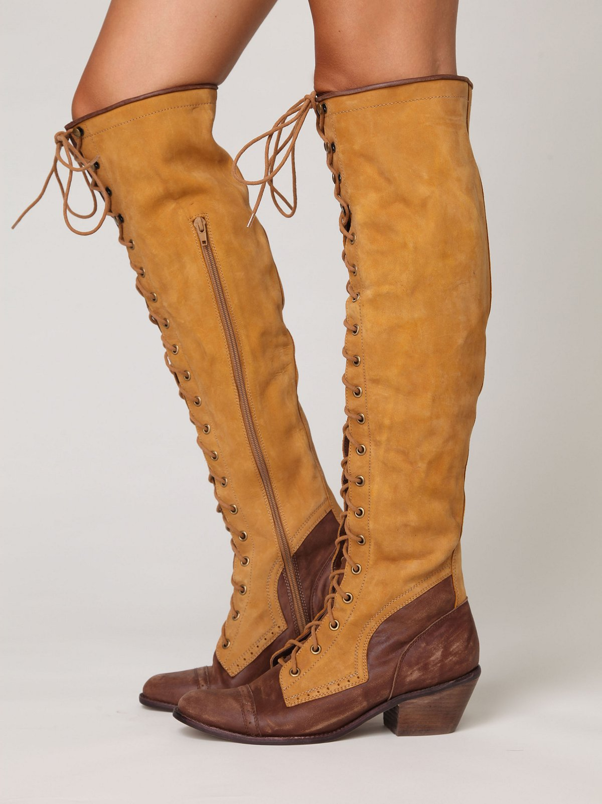Two Tone Joe Lace Up Boot