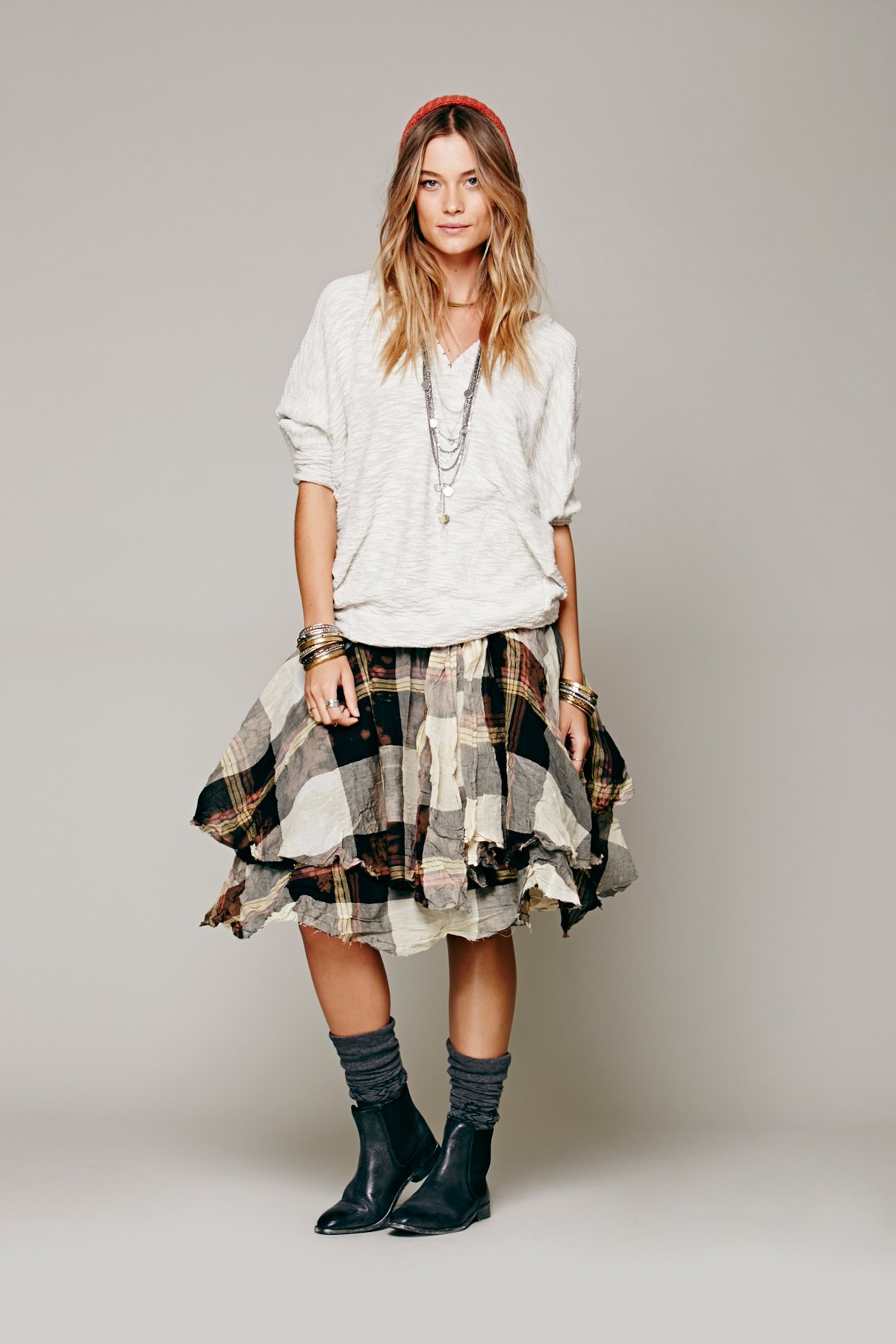 Melanie Plaid Skirt