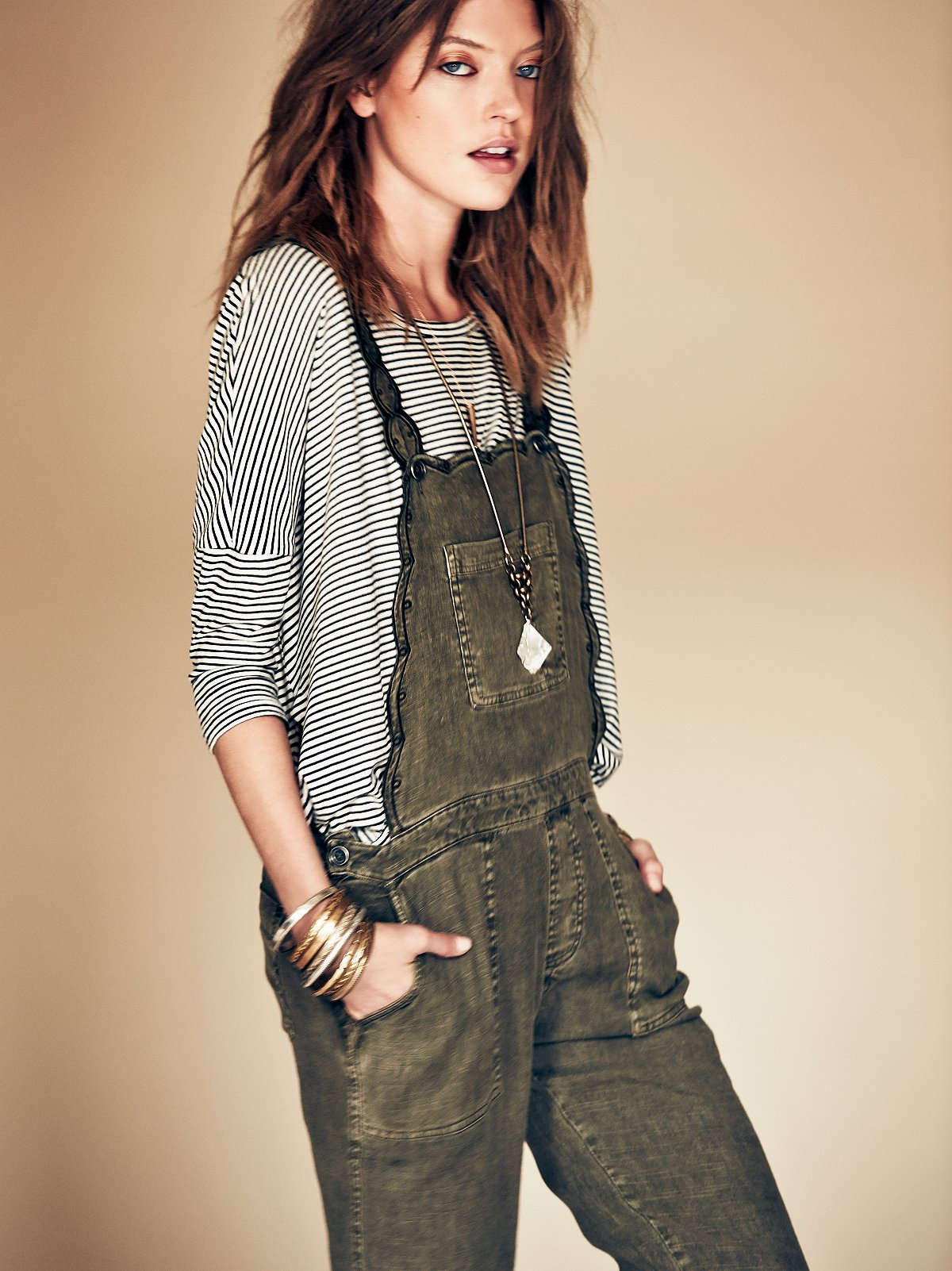 Louisa Embroidered Overall