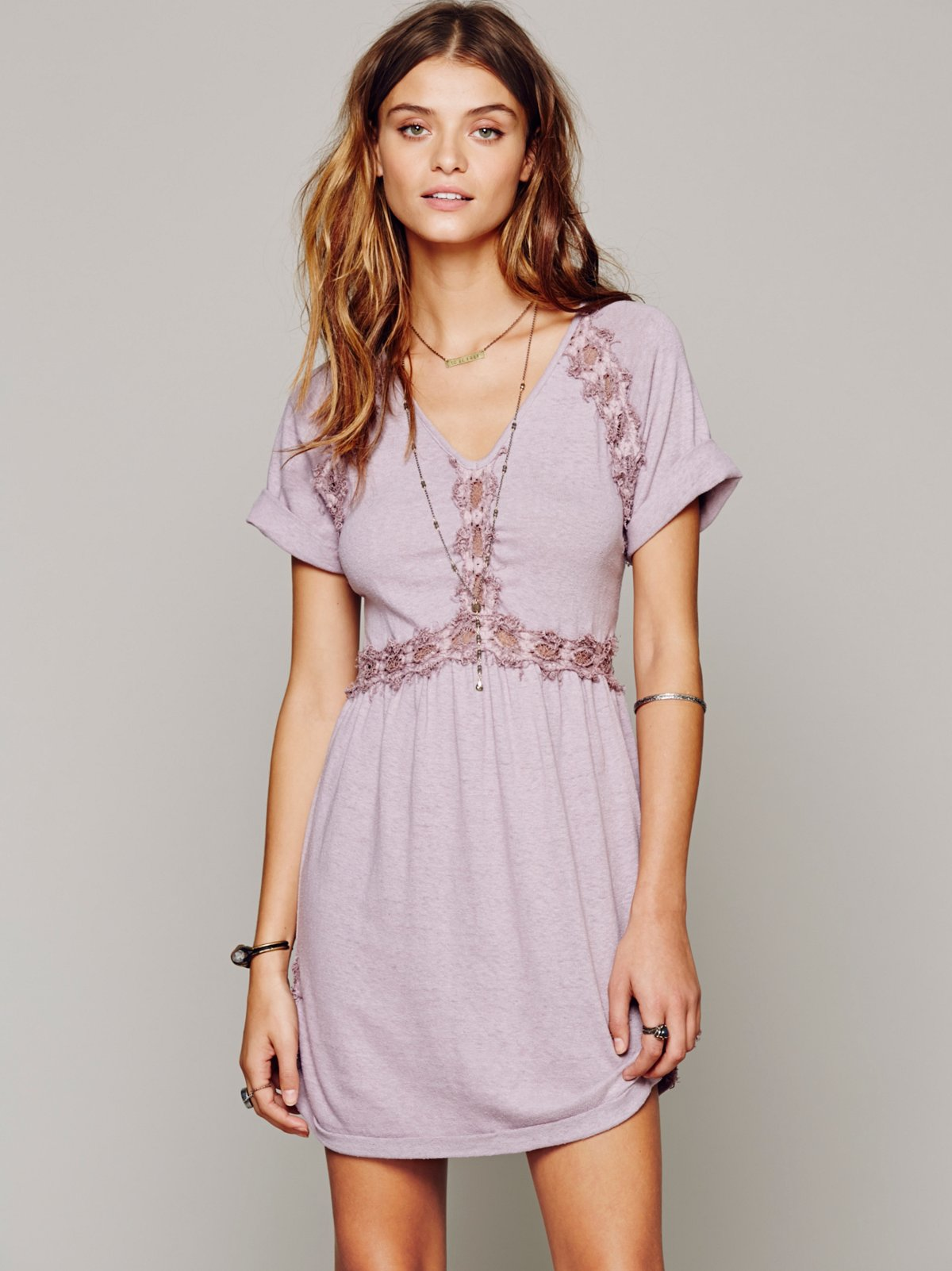 Silk Noil Lace Tunic