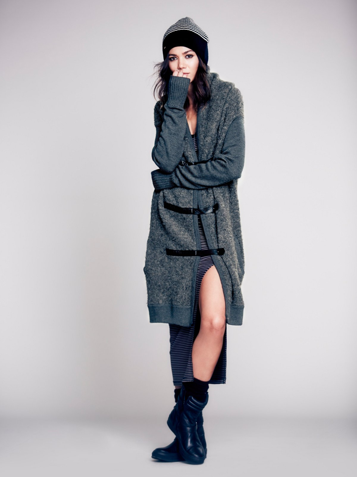 Drapey Wool Sweater Coat