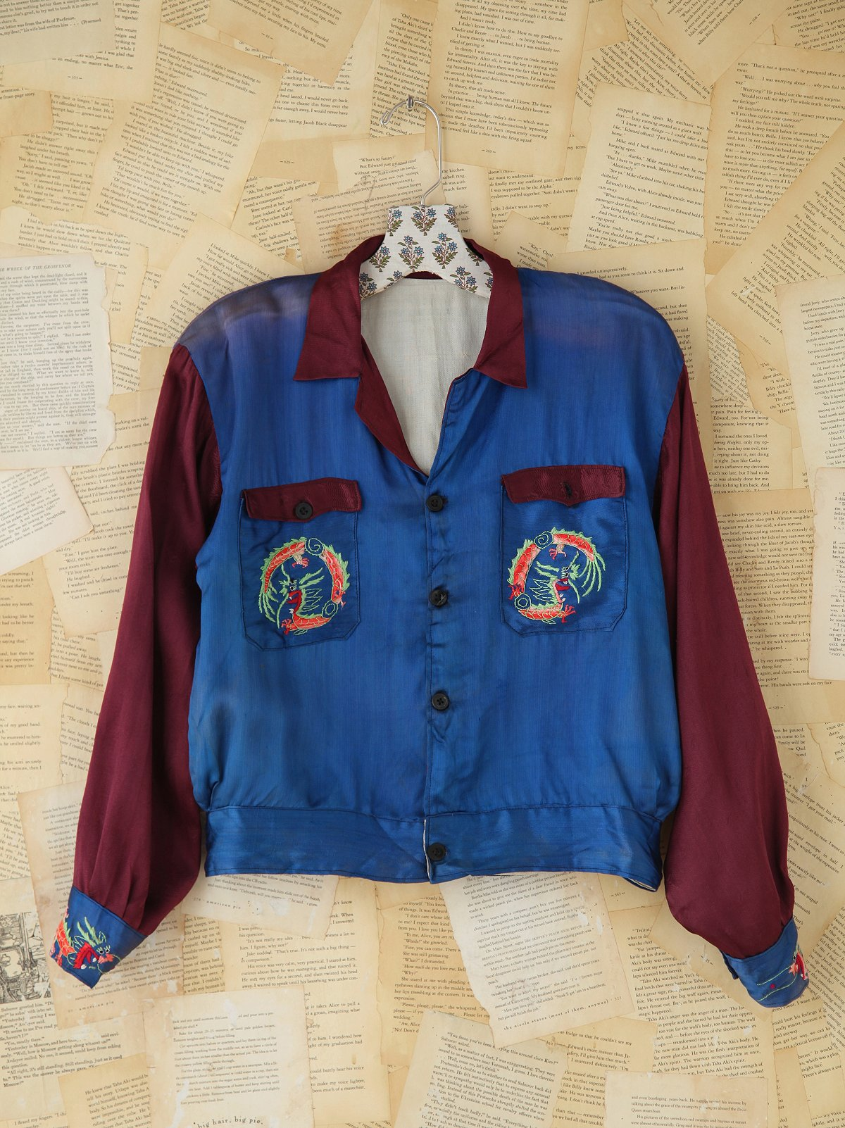 Vintage Embroidered Silk Jacket