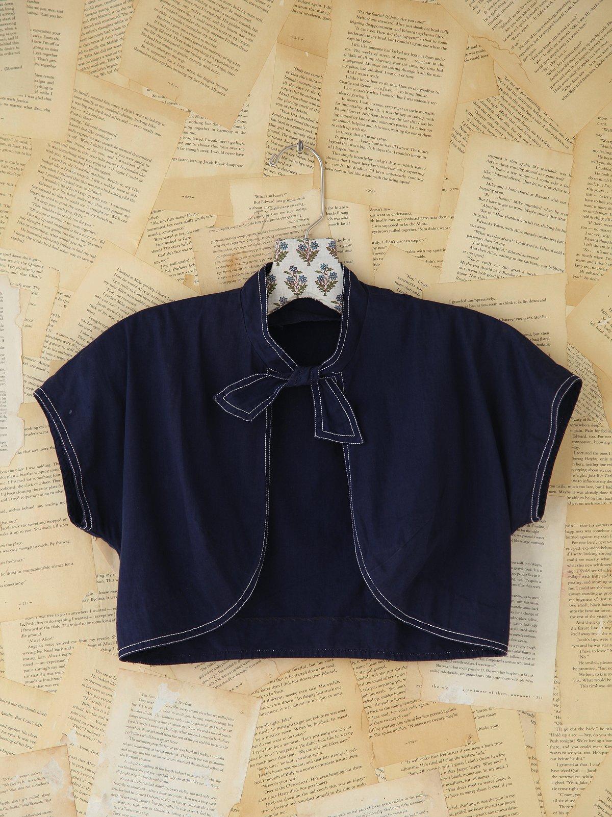 Vintage Navy Blue Bolero Jacket