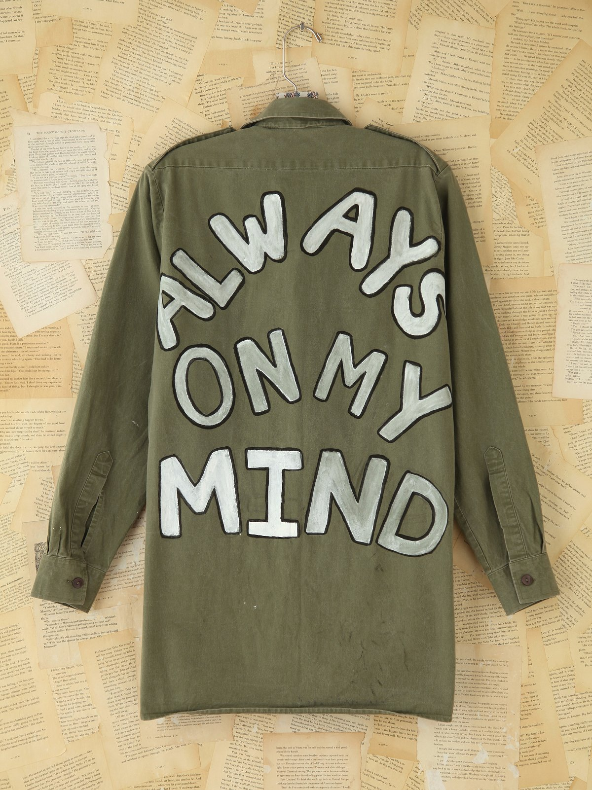 Vintage Hand-Painted Military Jacket