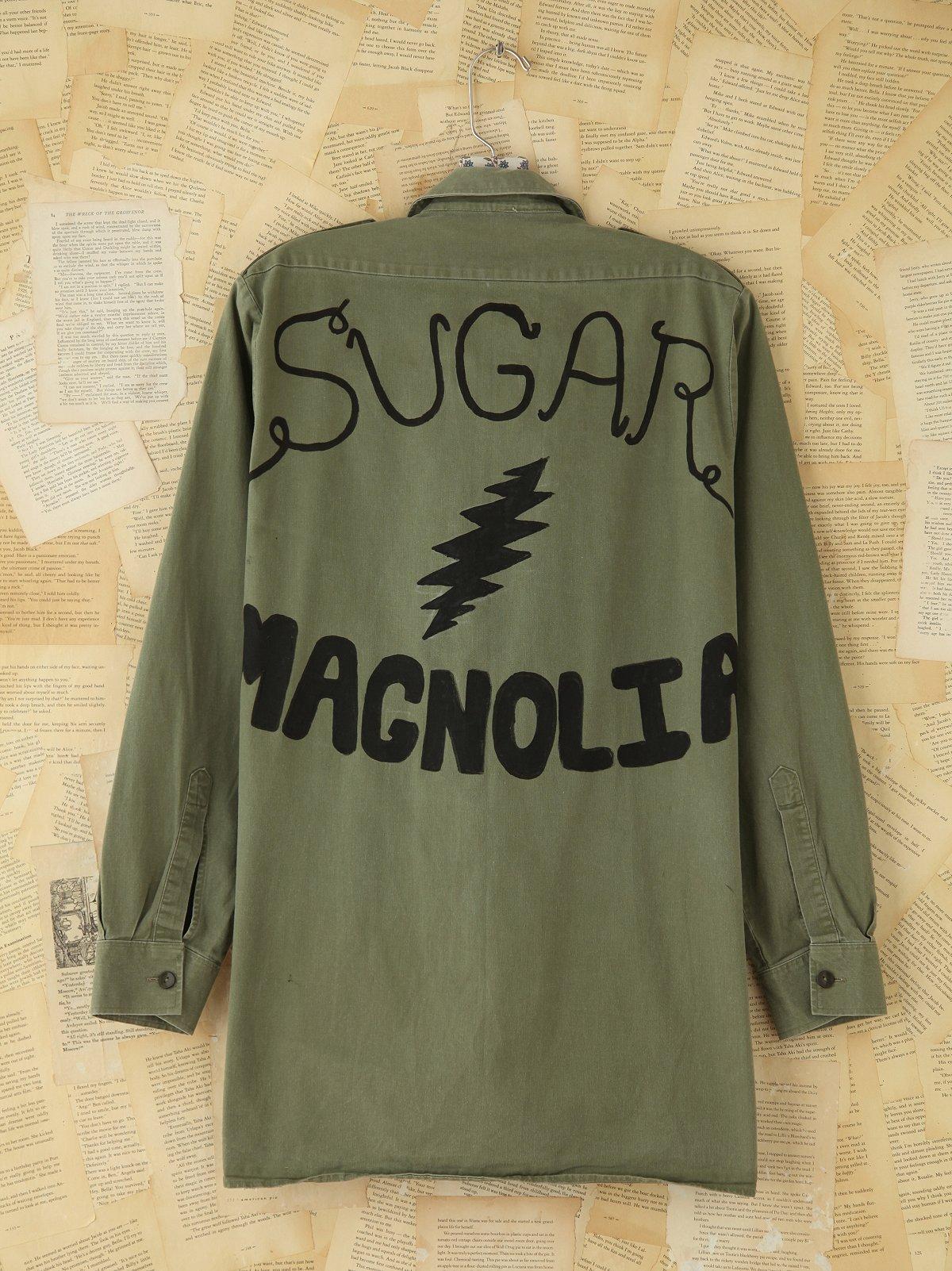 Vintage Painted Military Jacket