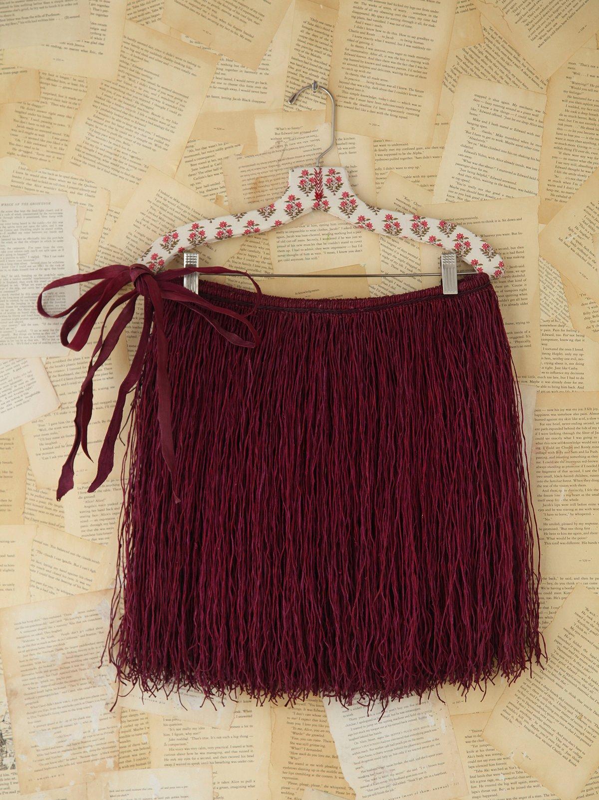Vintage West African Leather Fringe Skirt