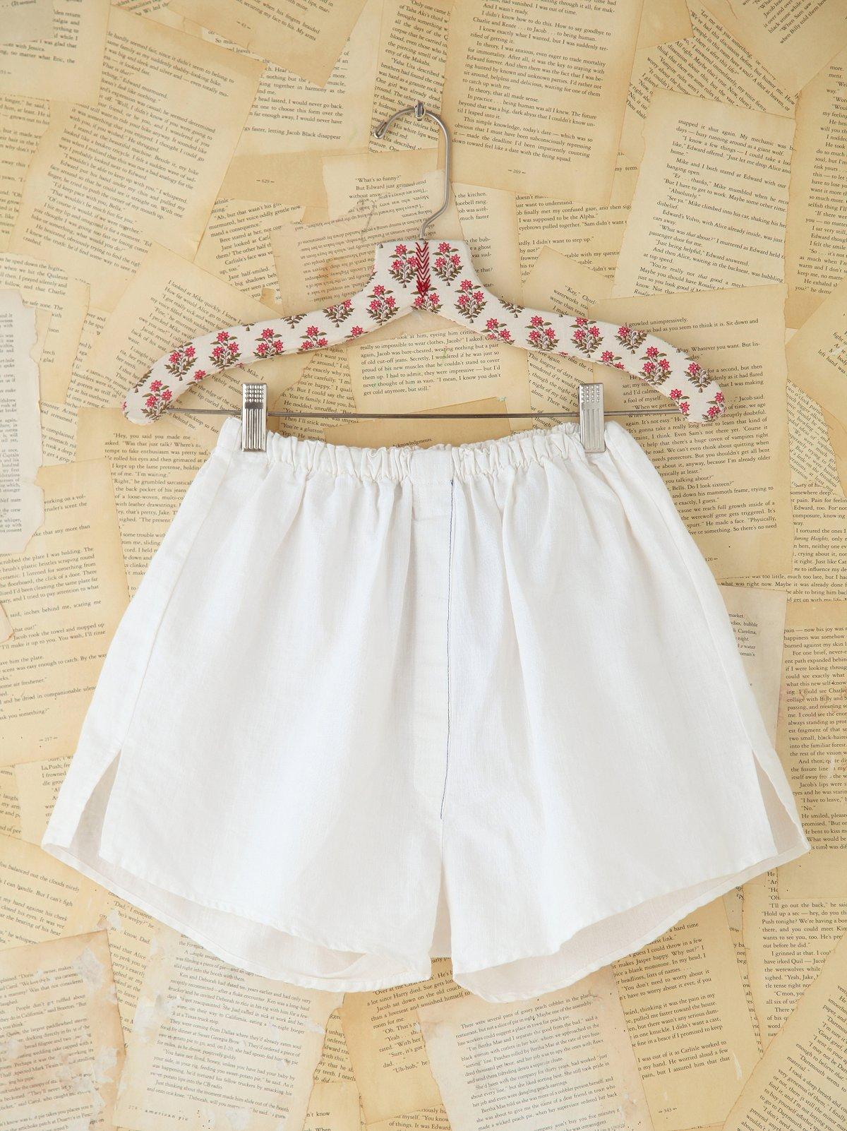 Vintage White Boxer Shorts