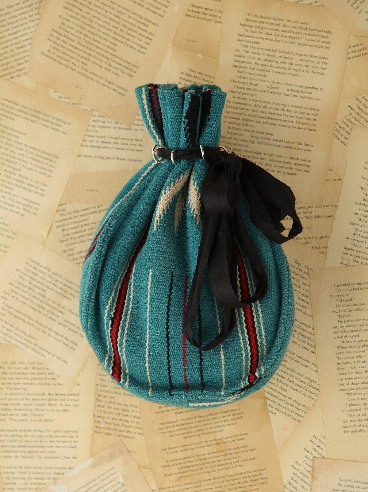 Vintage Chimayo Woven Drawstring Bag