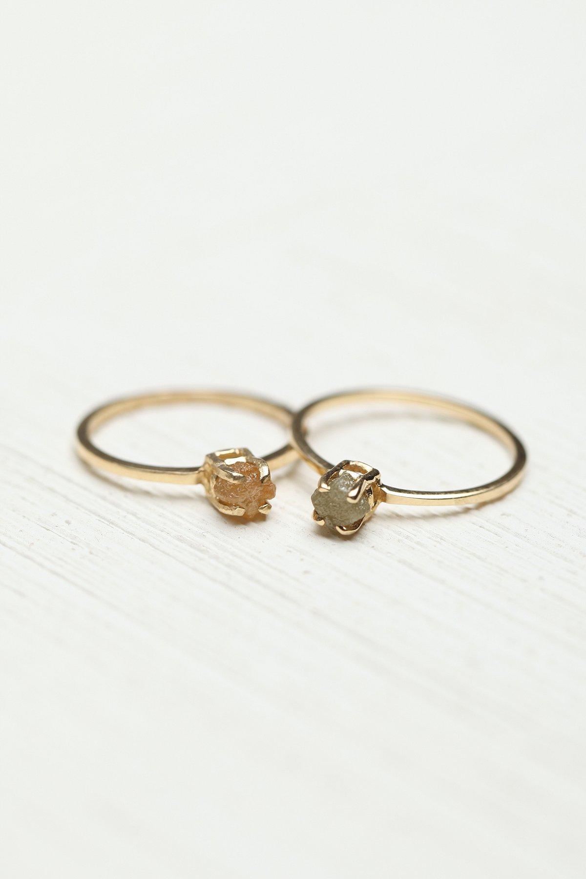 钻石原石戒指