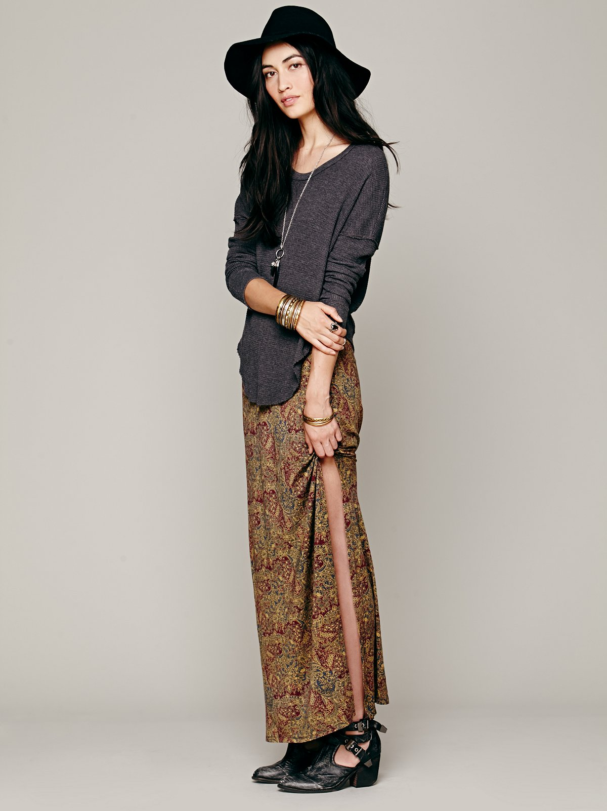 Sahaying Print Maxi Skirt