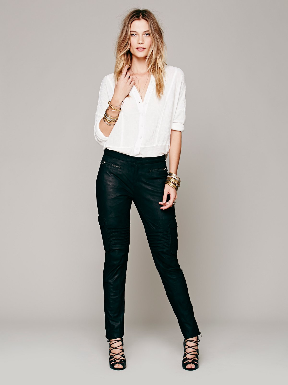 Military Leather Pant