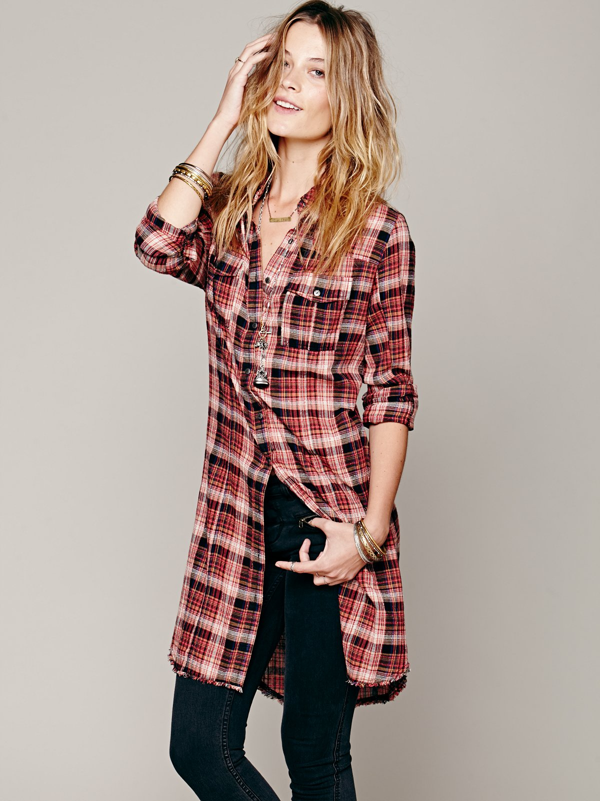 Doublecloth Plaid Buttondown