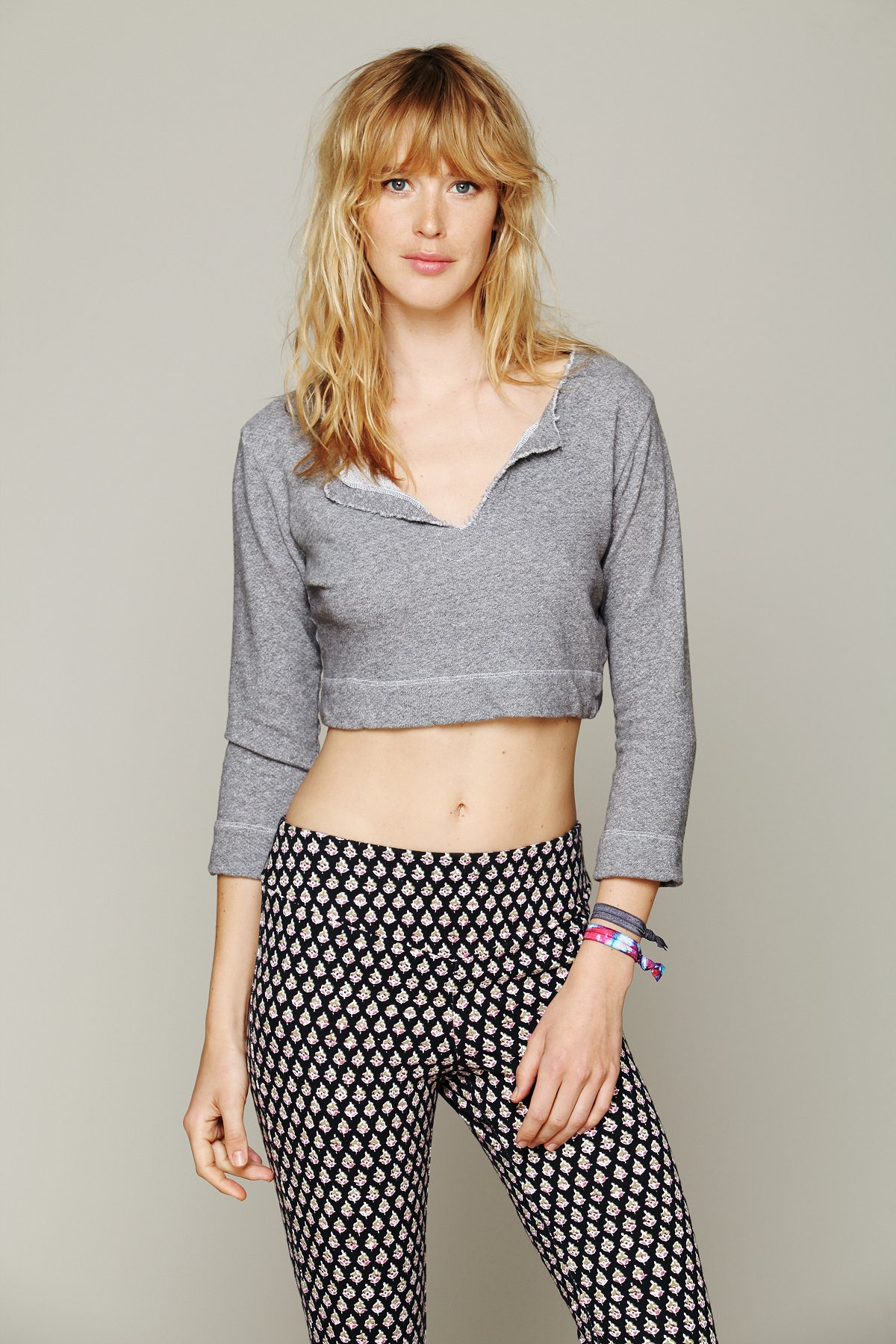 French Terry Cropped Pullover