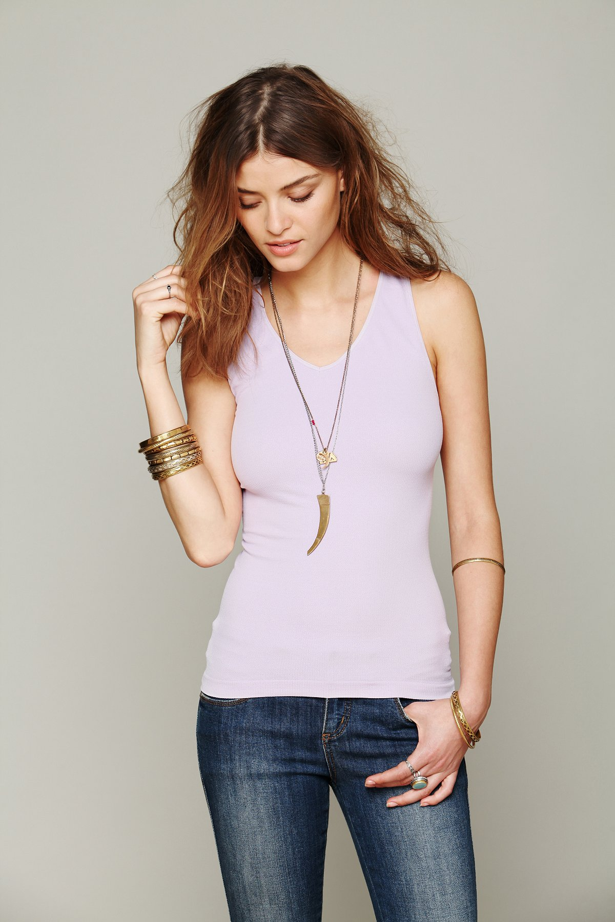 Back Detailed Seamless Cami