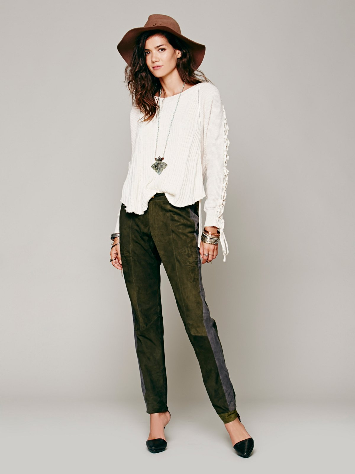 Oliver Suede Pant