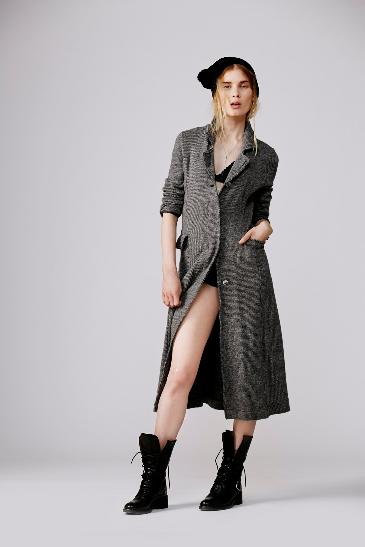Textured Trench Duster