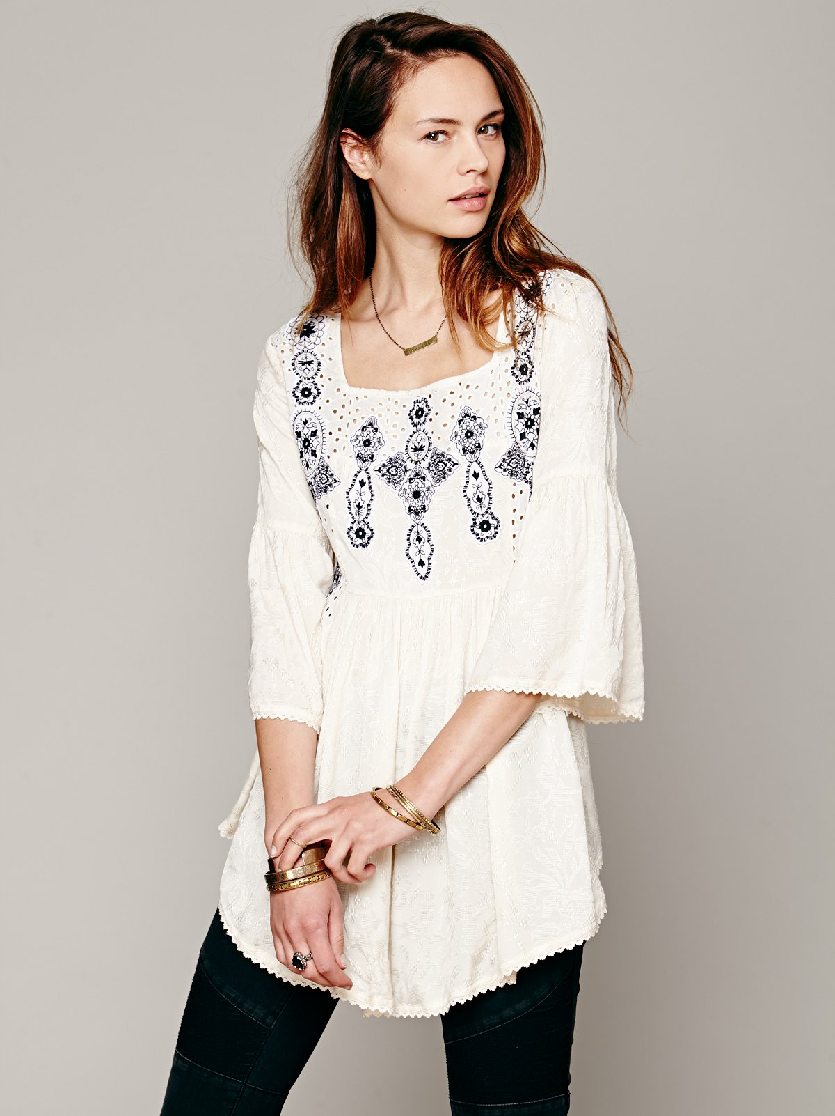 Embroidered In Jacquard Top