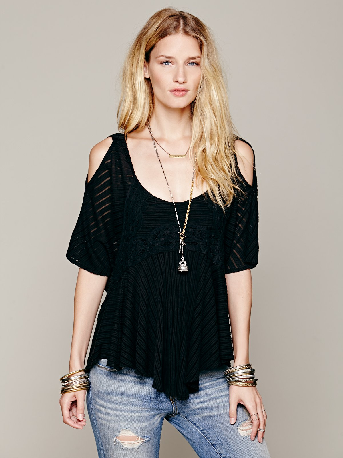 Dreamy Date Cold Shoulder Top