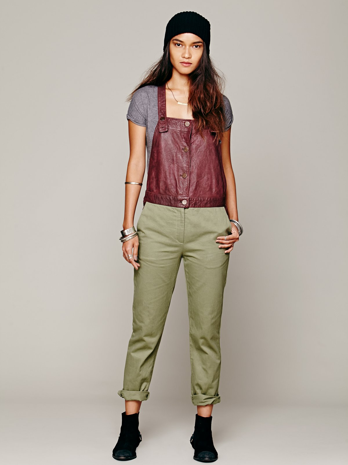 Emory Leather Overall