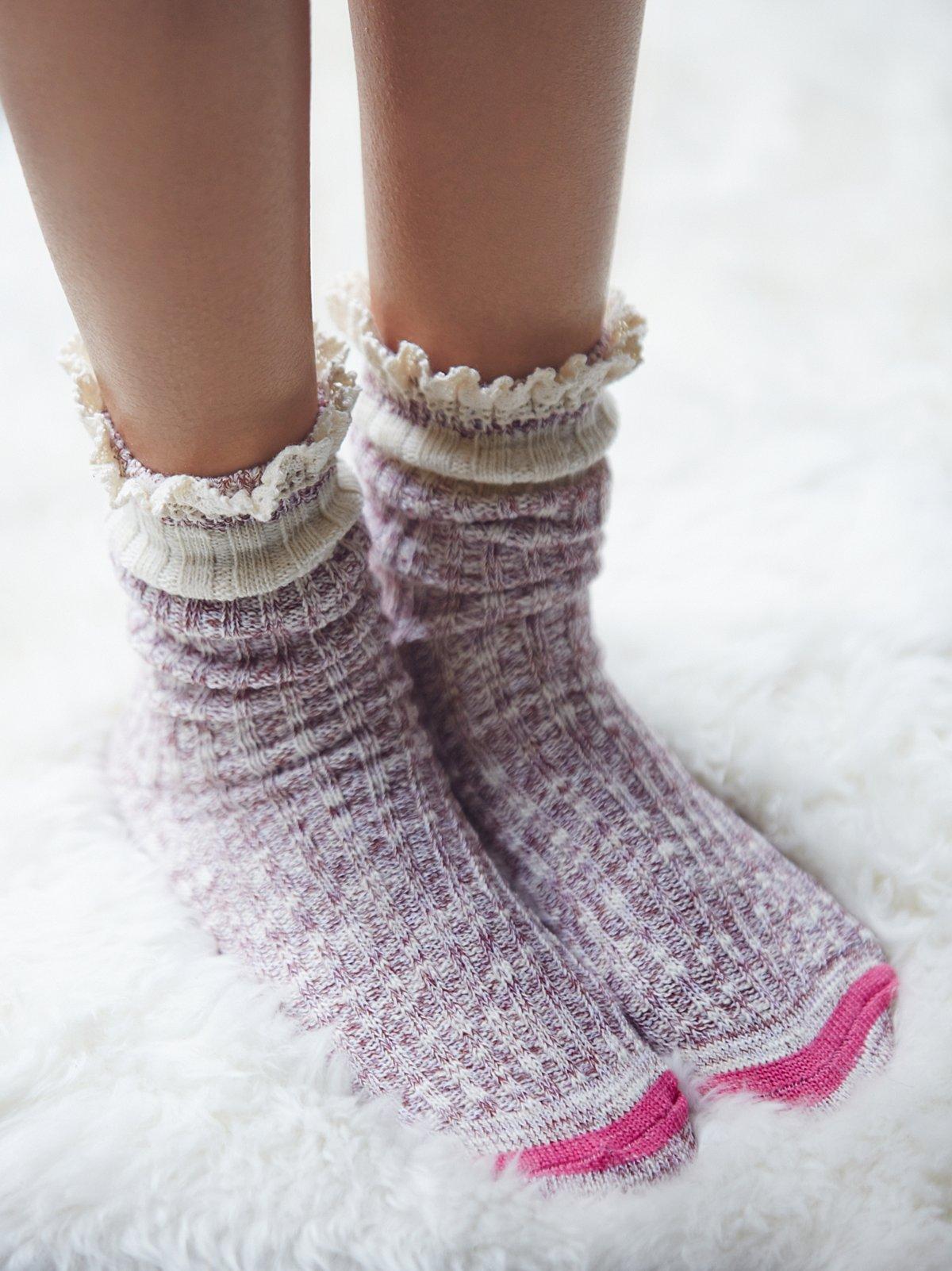 Hiker Highland混色短靴袜