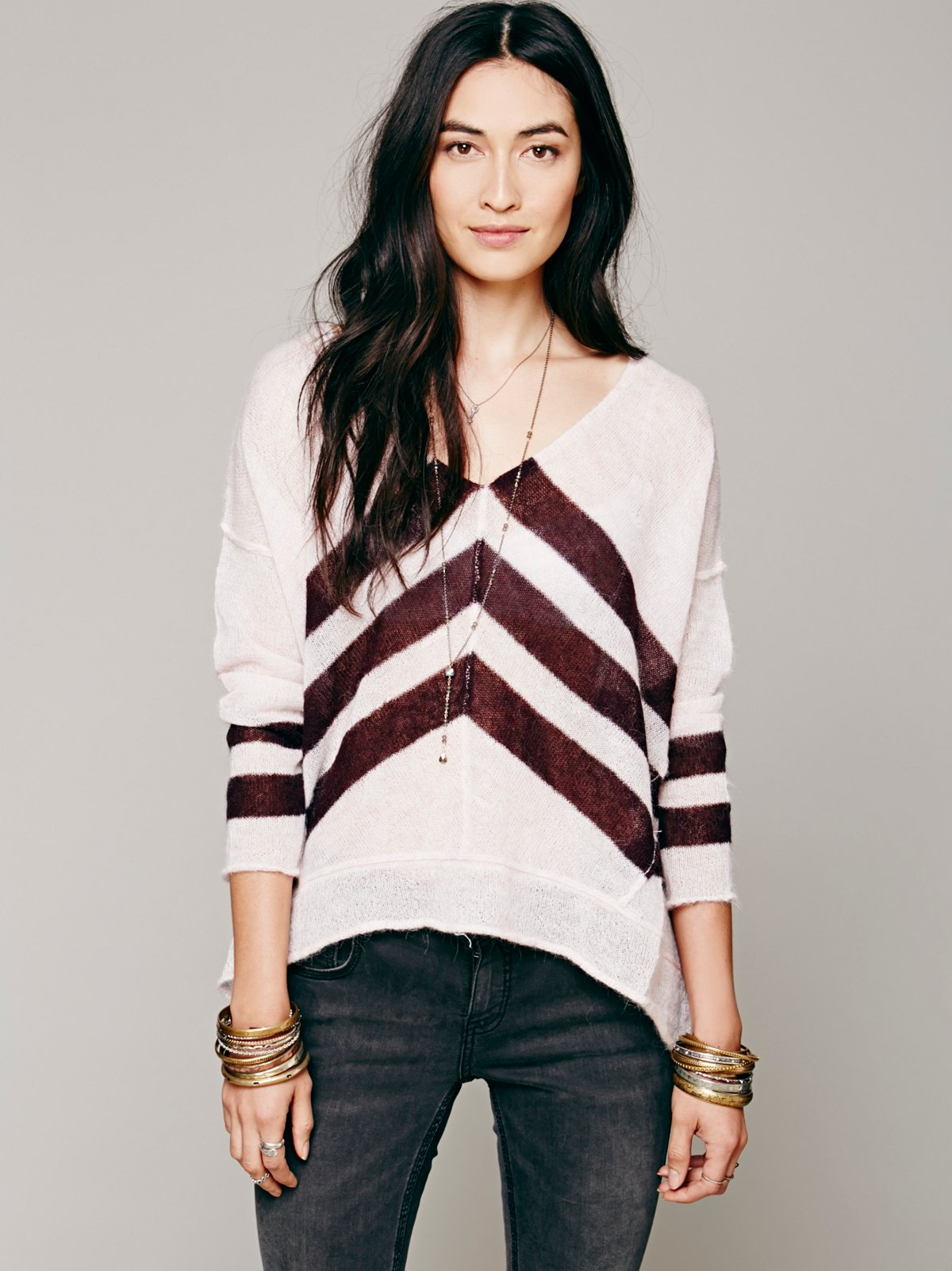 Chevron Stripe Pullover