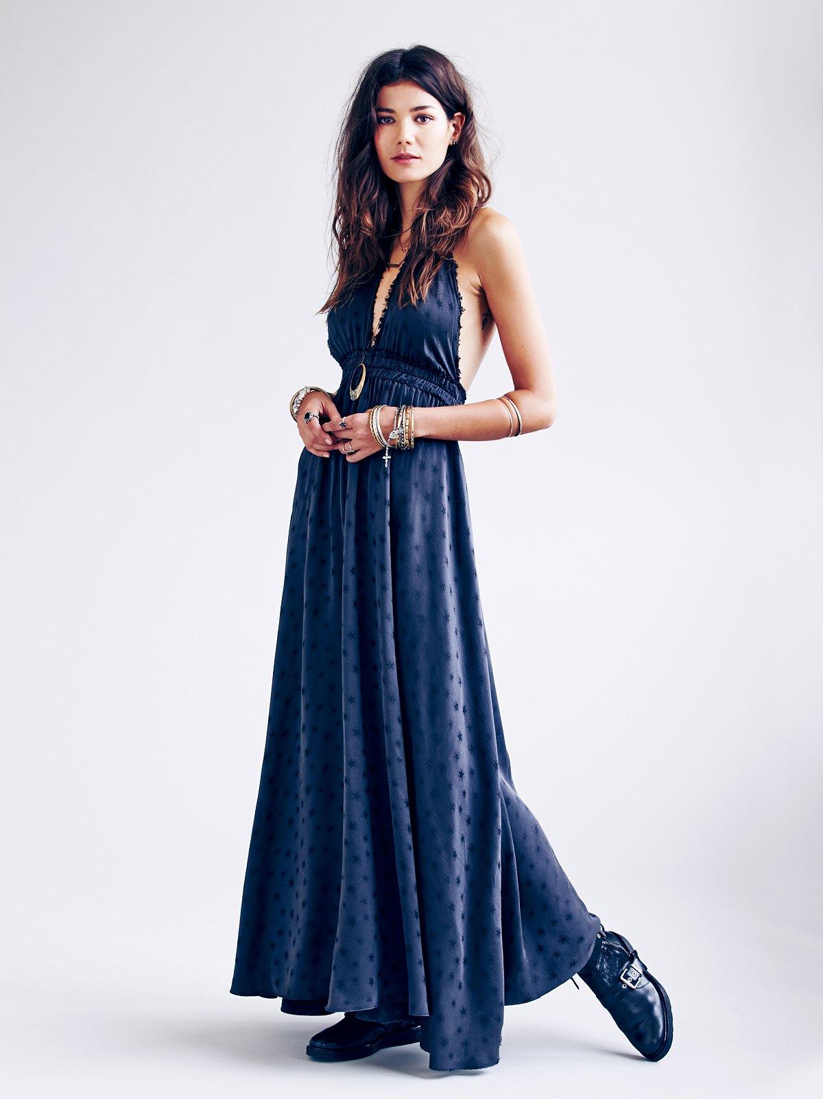 Fancy Star Jacquard Dress