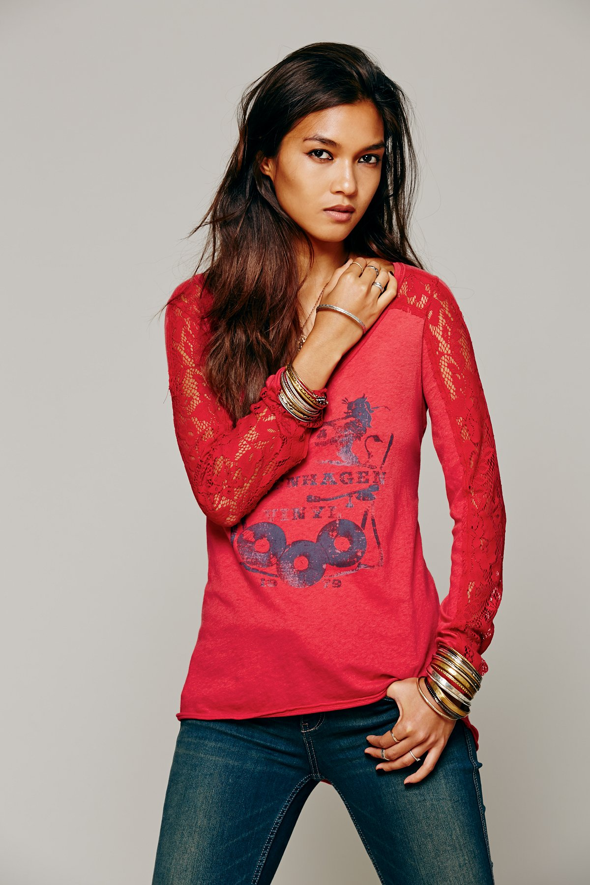 We The Free Lady Lace Tee