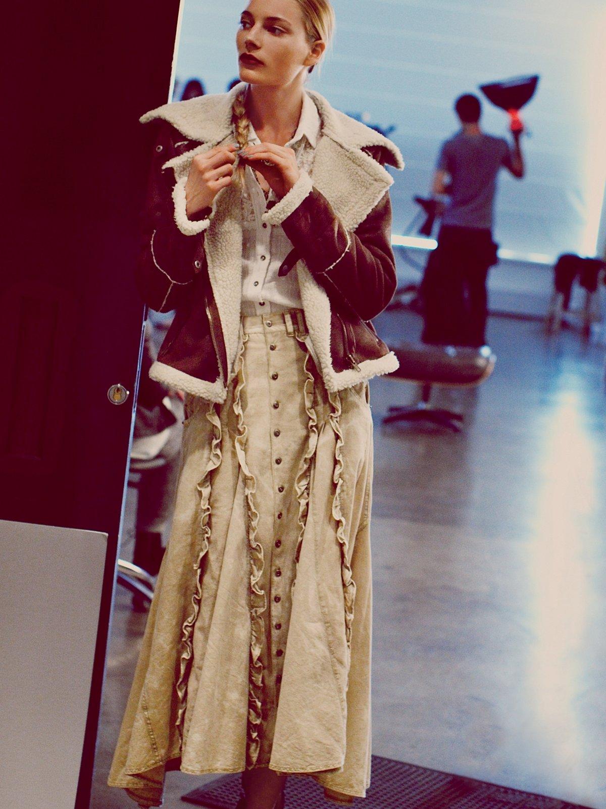 FP New Romantics Ruffled Prairie Skirt