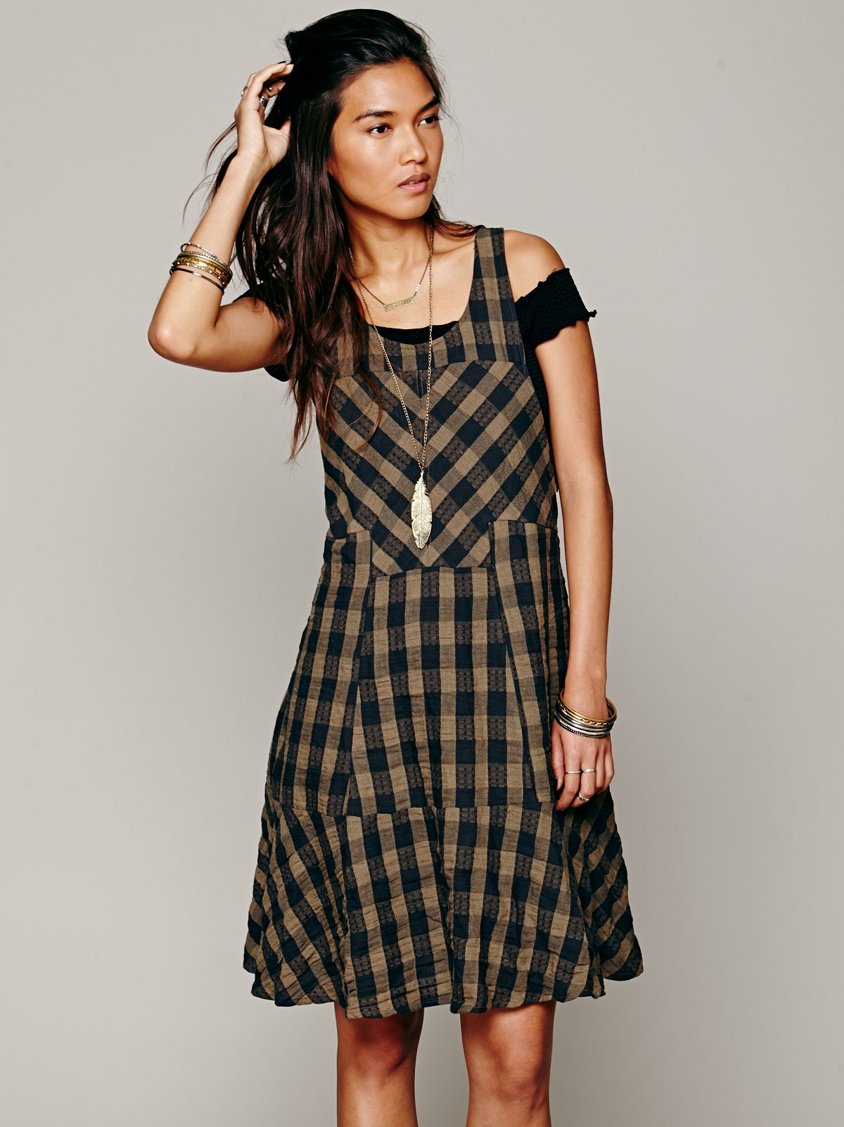 Edie Plaid Swing Dress