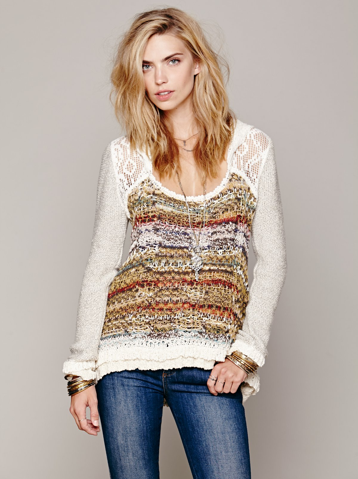 Lace Hood Pullover