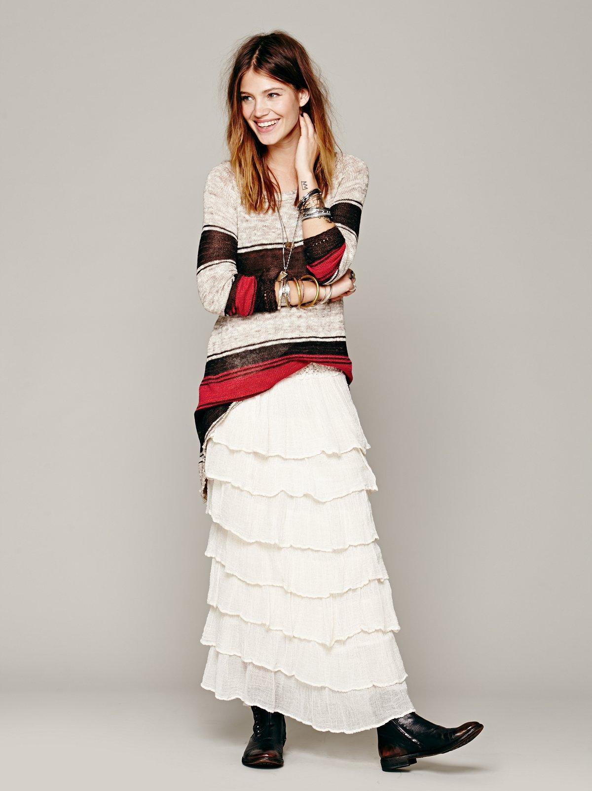 Tango Ruffle Maxi Skirt