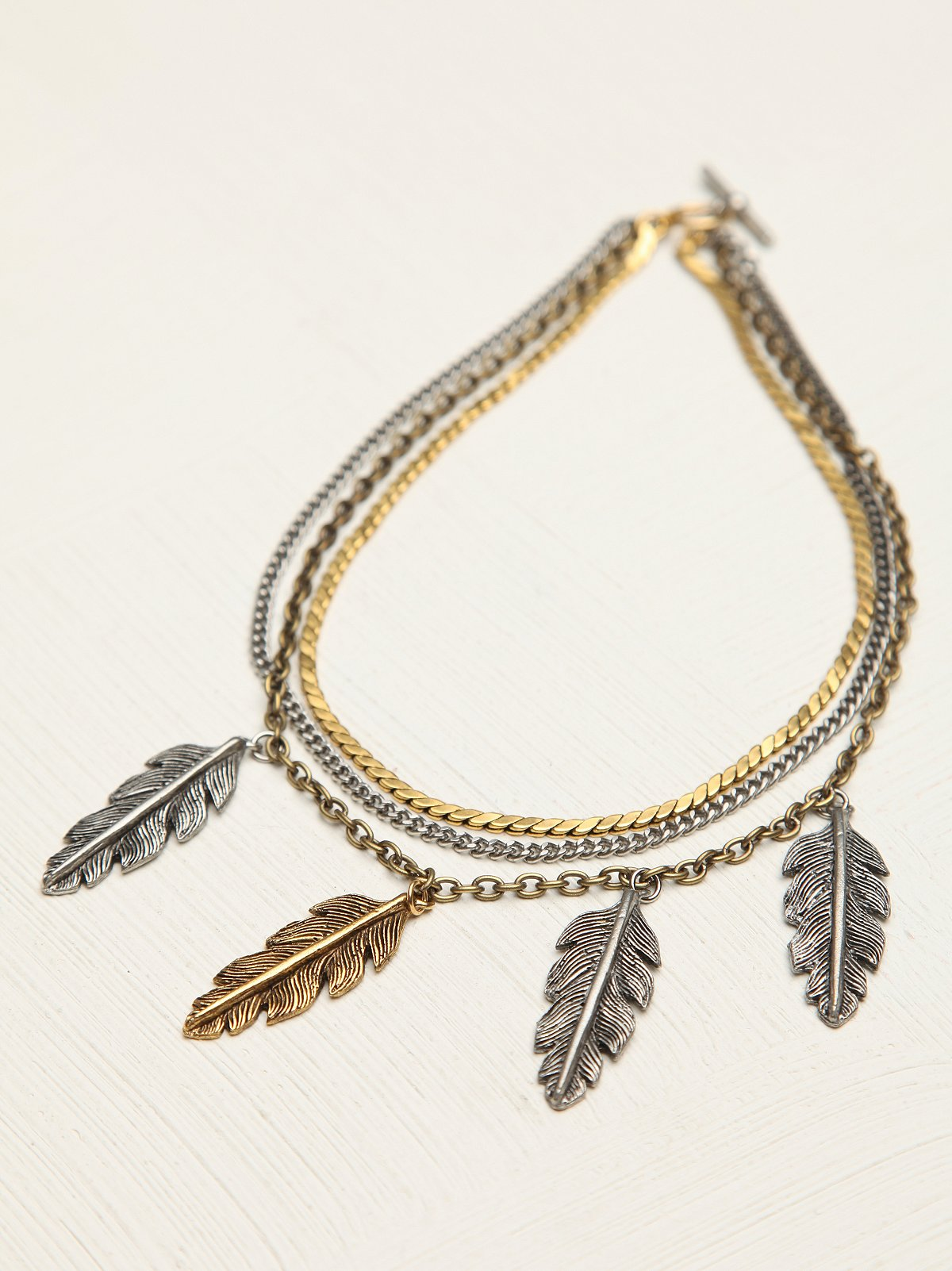 Triple Chain Charm Collar