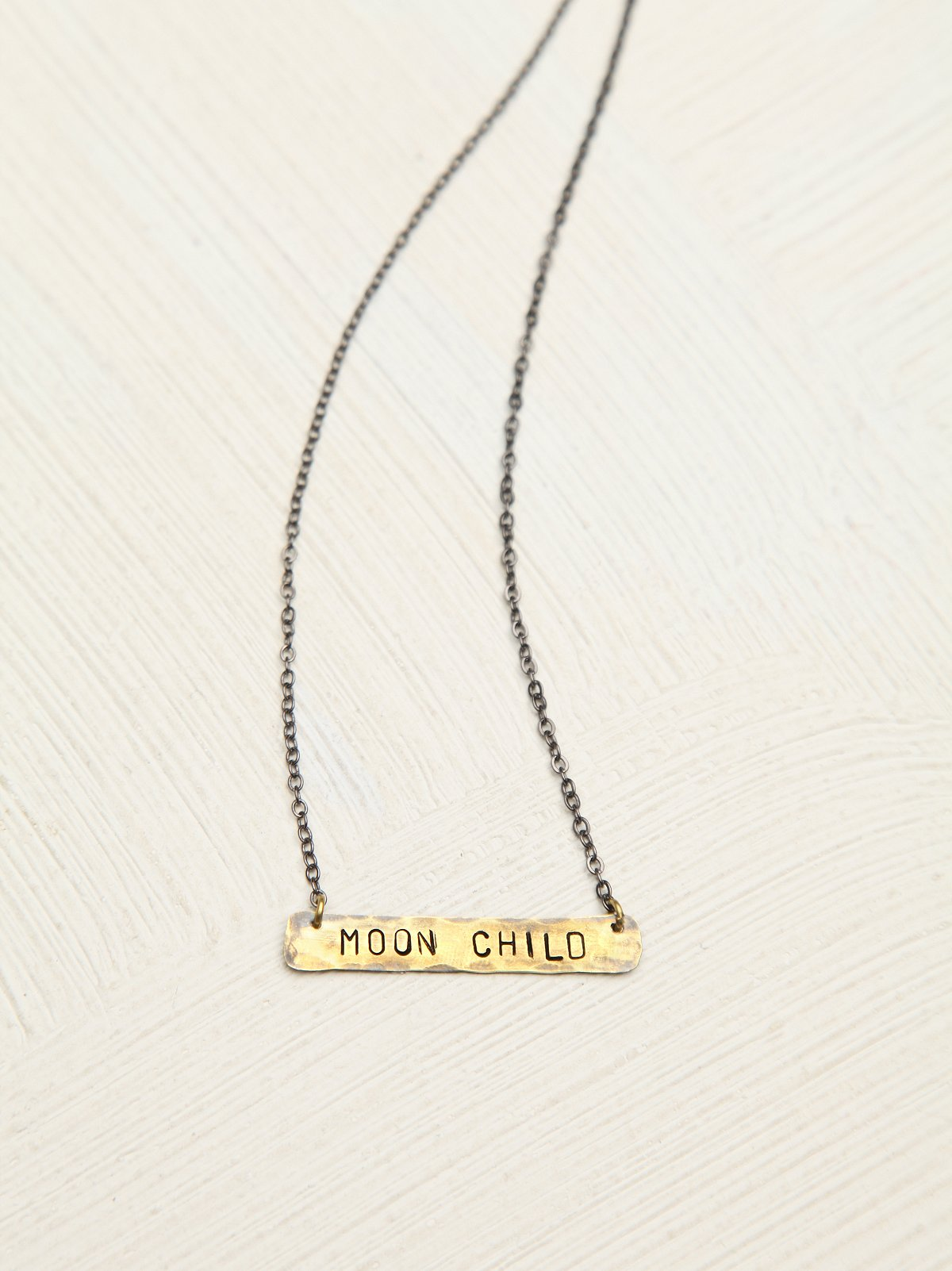 Etched Plate Necklace