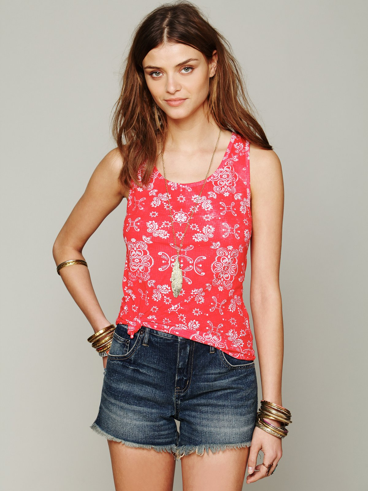 Free People Paisley Tank