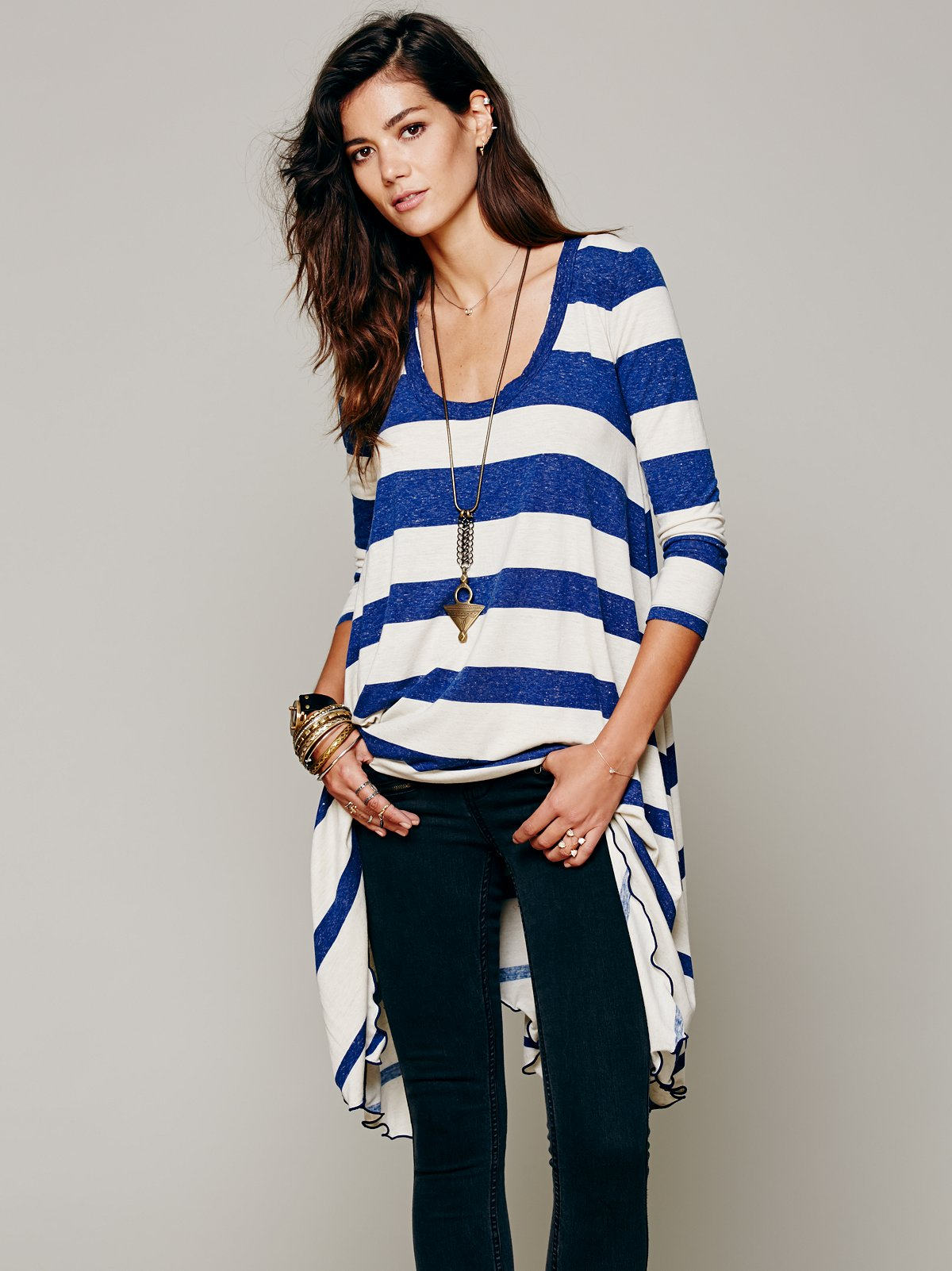 Stripes And Trapeze Dress