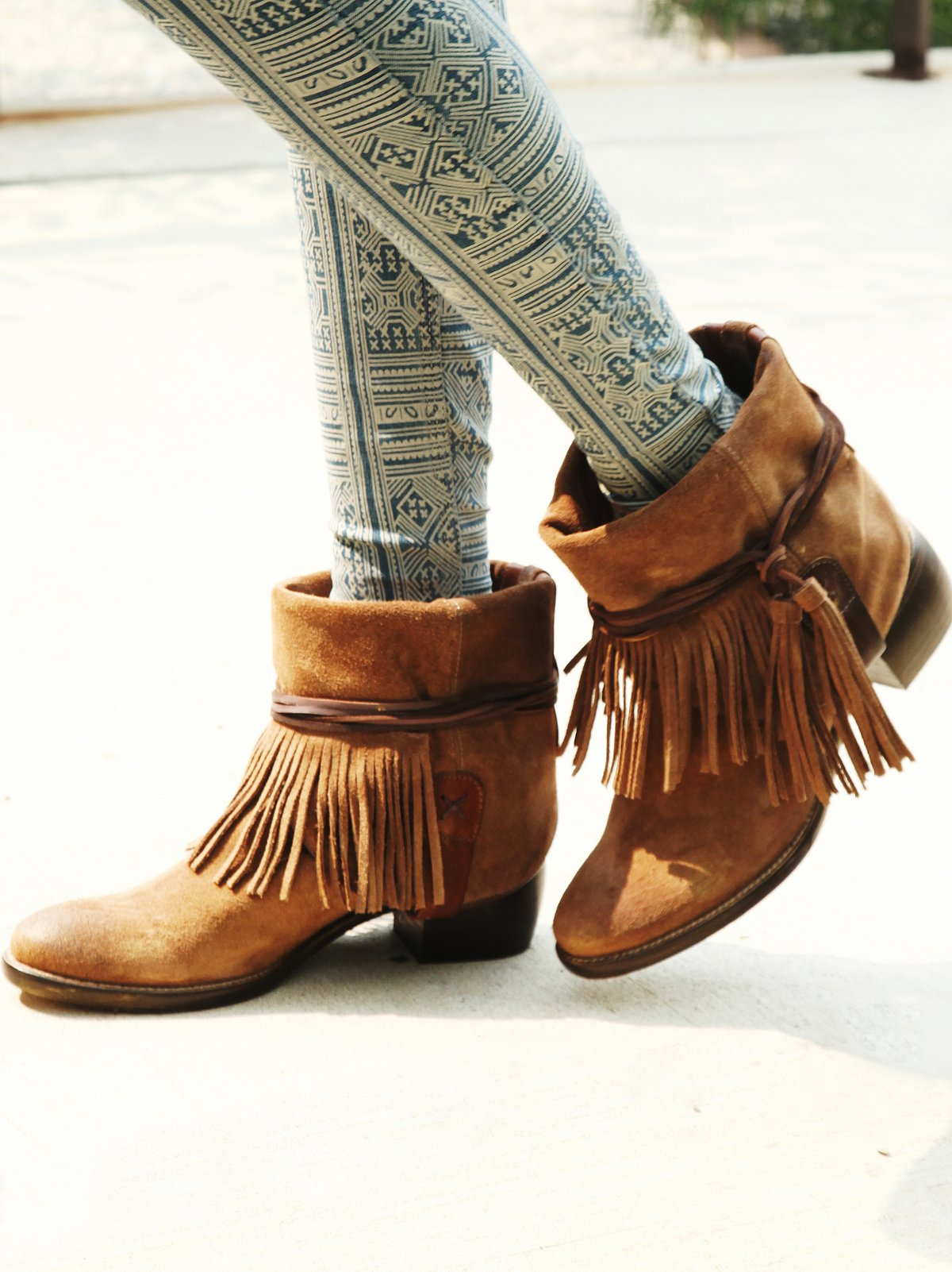 FP Collection Lonesome Fringe Ankle Boot at Free People Clothing ...