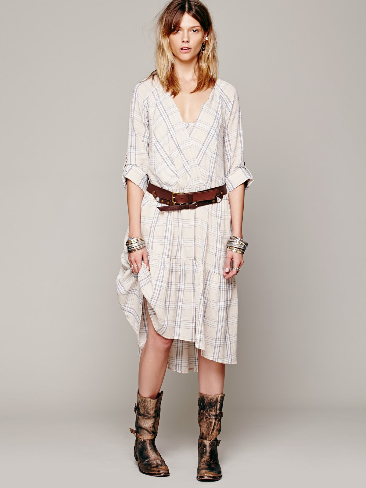 Come as You Are Plaid Dress