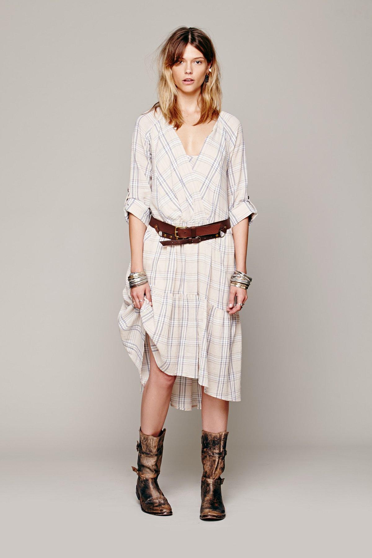 Come as You Are Plaid Dress
