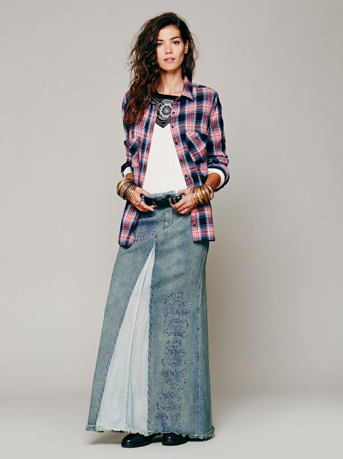 Badlands Denim Maxi Skirt