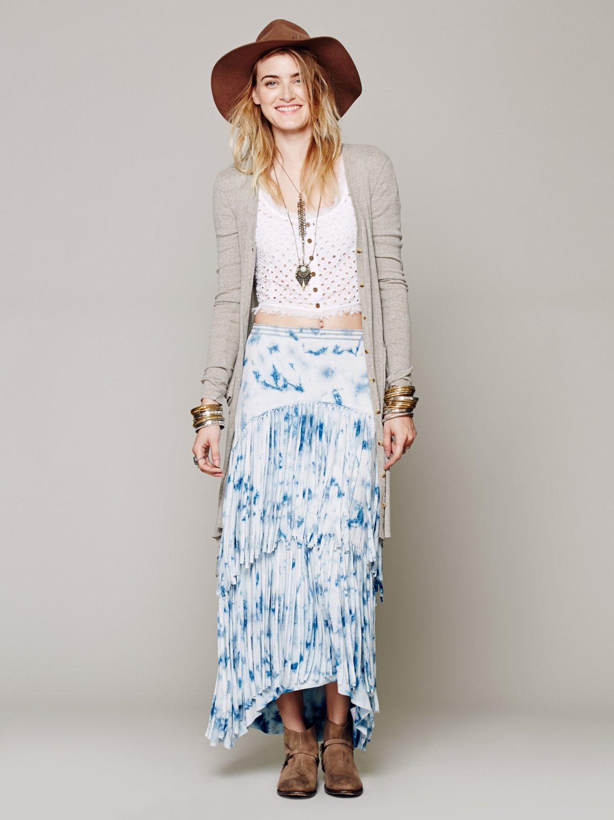 Maheya Fringe Skirt