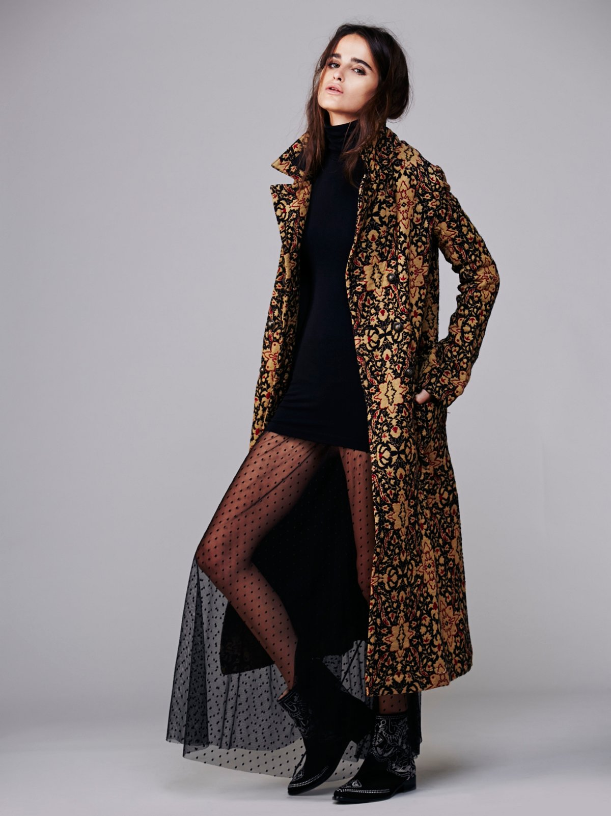 Long Winded Tapestry Coat