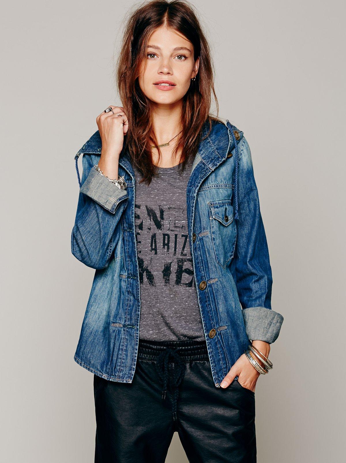 Denim Buttondown Shirt Jacket
