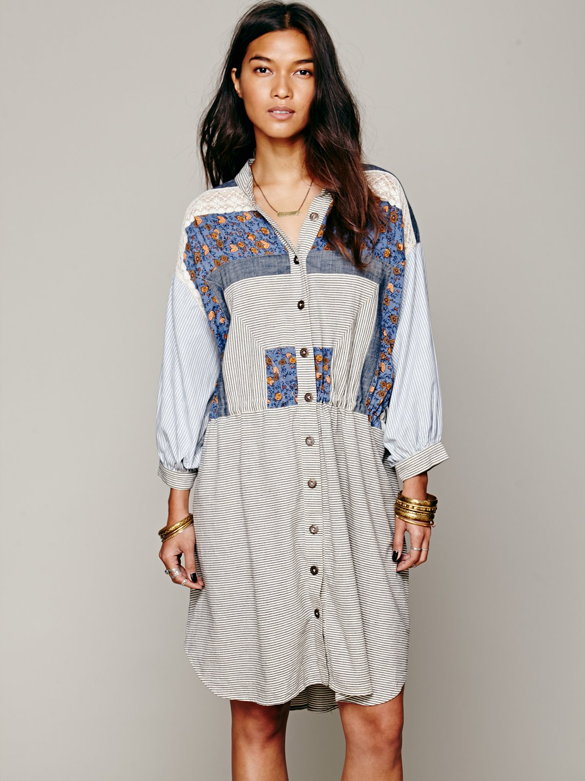 FP New Romantics Go Go Kyoto Shirt Dress