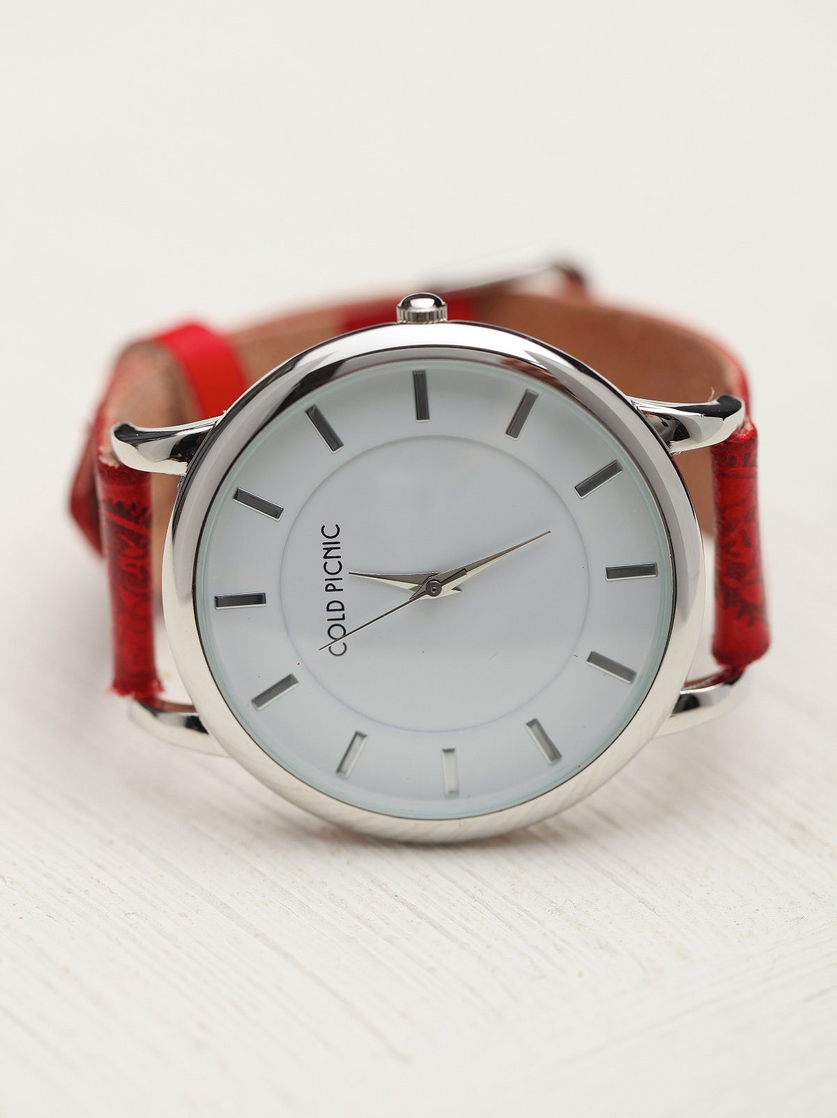 Henna Stamped Leather Watch