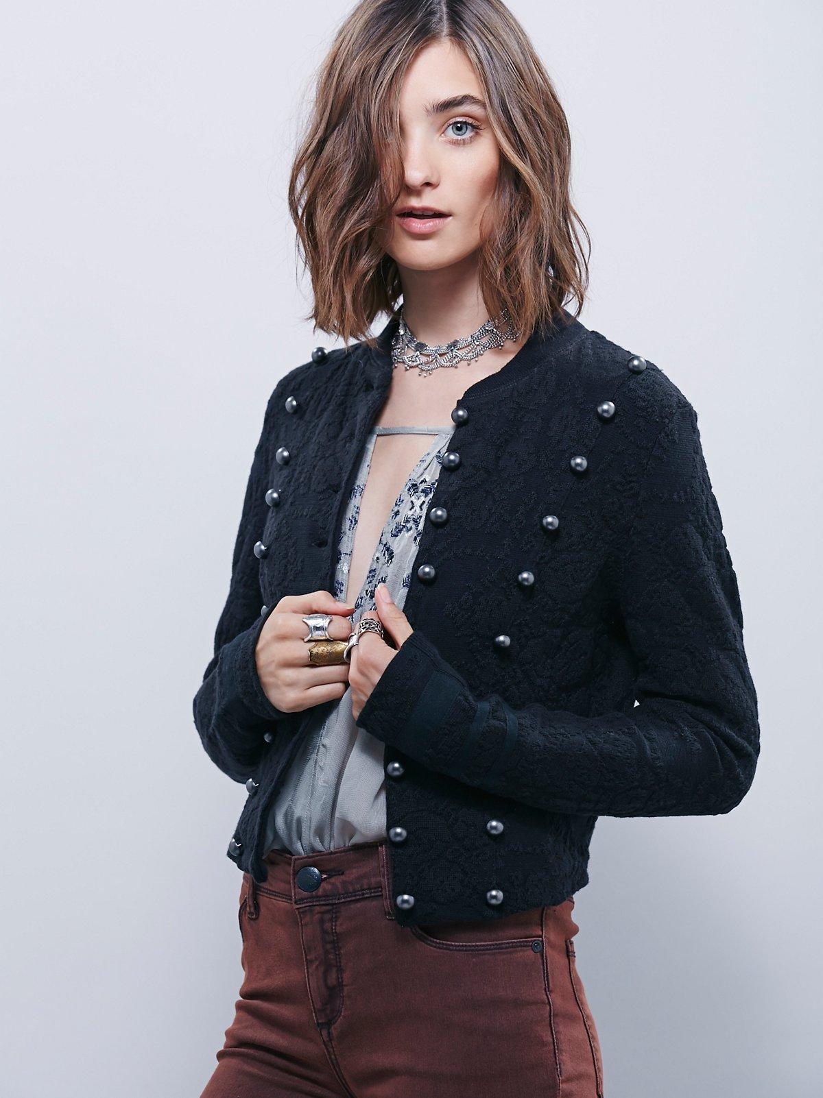 饰带织纹夹克