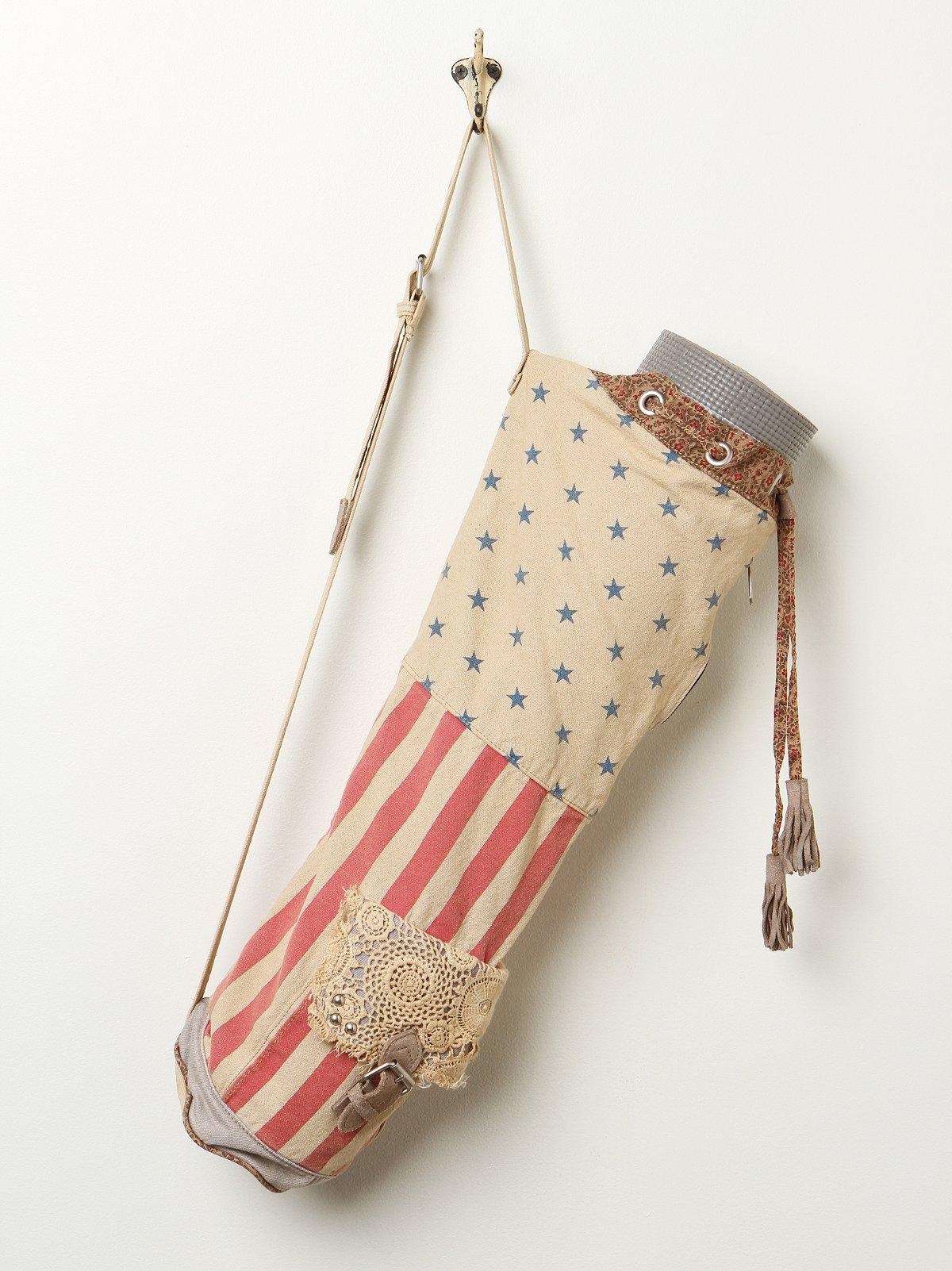 Floral Flag Yoga Bag